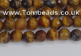 CTE1826 15.5 inches 4mm faceted round yellow tiger eye beads