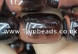 CTE2068 15.5 inches 13*18mm drum red tiger eye gemstone beads
