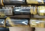 CTE2073 15.5 inches 6*16mm tube yellow tiger eye gemstone beads