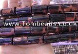 CTE2081 15.5 inches 12*21mm tube red tiger eye beads wholesale