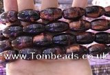 CTE2082 15.5 inches 12*21mm rice red tiger eye beads wholesale