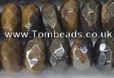 CTE2112 6*10mm faceted rondelle AB-color yellow tiger eye beads