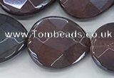 CTE2116 17*20mm faceted flat teardrop AB-color red tiger eye beads