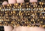 CTE2145 15.5 inches 4mm round yellow tiger eye beads wholesale