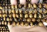 CTE2148 15.5 inches 8mm round yellow tiger eye beads wholesale