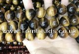 CTE2165 15.5 inches 20mm round yellow tiger eye gemstone beads