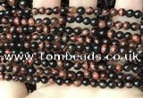 CTE2180 15.5 inches 4mm round red tiger eye gemstone beads