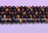 CTE2221 15.5 inches 10mm round colorful tiger eye gemstone beads