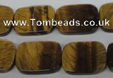 CTE310 15.5 inches 15*20mm rectangle yellow tiger eye gemstone beads