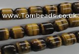 CTE328 15.5 inches 8*10mm drum yellow tiger eye gemstone beads
