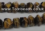 CTE336 15.5 inches 8*12mm faceted nuggets yellow tiger eye gemstone beads