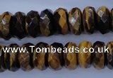 CTE403 15.5 inches 8*14mm faceted rondelle yellow tiger eye beads