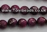 CTE474 15.5 inches 12mm faceted round red tiger eye beads wholesale