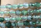 CTG1008 15.5 inches 2mm faceted round tiny moss agate beads