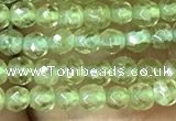 CTG1047 15.5 inches 2mm faceted round tiny peridot gemstone beads