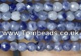 CTG1069 15.5 inches 2mm faceted round tiny blue spot stone beads