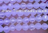 CTG1091 15.5 inches 2mm faceted round tiny quartz glass beads