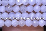 CTG1118 15.5 inches 3mm faceted round tiny blue lace agate beads