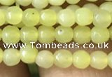 CTG1148 15.5 inches 3mm faceted round tiny lemon jade beads