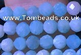 CTG1166 15.5 inches 3mm faceted round tiny amazonite beads