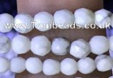 CTG1170 15.5 inches 3mm faceted round tiny white howlite beads