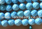 CTG1174 15.5 inches 3mm faceted round tiny turquoise beads