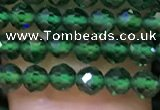 CTG1198 15.5 inches 3mm faceted round tiny quartz glass beads