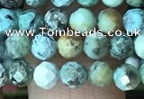 CTG1212 15.5 inches 4mm faceted round tiny African turquoise beads