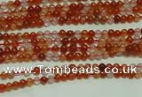 CTG123 15.5 inches 2mm round grade A tiny red agate beads wholesale