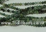 CTG126 15.5 inches 2mm round tiny moss agate beads wholesale