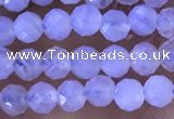 CTG1304 15.5 inches 3mm faceted round blue lace agate beads wholesale