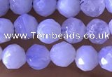 CTG1305 15.5 inches 5mm faceted round blue lace agate beads wholesale