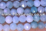 CTG1308 15.5 inches 3mm faceted round amazonite beads wholesale