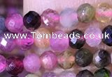 CTG1327 15.5 inches 3mm faceted round tourmaline beads wholesale
