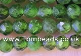 CTG1382 15.5 inches 3mm faceted round tiny diopside quartz beads