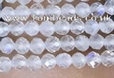 CTG1402 15.5 inches 2mm faceted round white moonstone beads wholesale