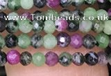 CTG1427 15.5 inches 2mm faceted round ruby zoisite beads