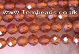 CTG1438 15.5 inches 2mm faceted round orange garnet beads wholesale