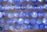 CTG1443 15.5 inches 2mm faceted round blue kyanite beads