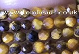 CTG1465 15.5 inches 2mm faceted round yellow tiger eye beads