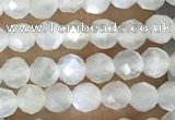 CTG1480 15.5 inches 3mm faceted round white moonstone beads