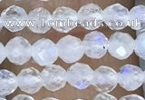 CTG1482 15.5 inches 3mm faceted round white moonstone beads