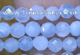 CTG1493 15.5 inches 3mm faceted round aquamarine beads wholesale
