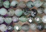 CTG1500 15.5 inches 3mm faceted round emerald gemstone beads
