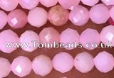 CTG1513 15.5 inches 3mm faceted round pink opal beads wholesale