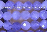 CTG1537 15.5 inches 4mm faceted round blue kyanite beads wholesale