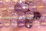 CTG1538 15.5 inches 4mm faceted round ametrine beads wholesale