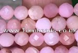CTG1545 15.5 inches 4mm faceted round pink opal beads wholesale