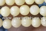 CTG1596 15.5 inches 4mm round yellow jade beads wholesale