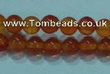 CTG16 15.5 inch 4mm round B grade tiny red agate beads wholesale